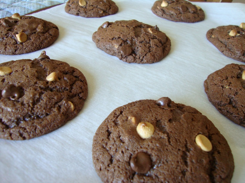 Triple Chocolate Espresso Peanut Butter Chip Dream Cookies