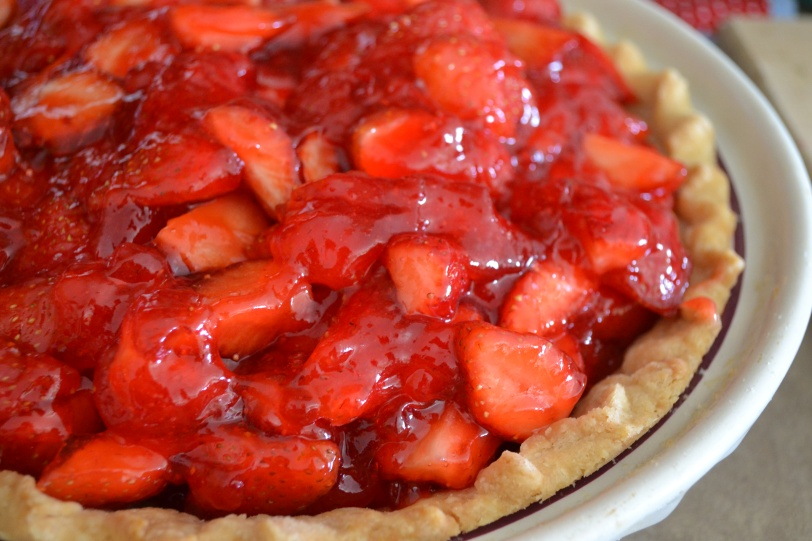 Fresh Strawberry Pie  /  The Wonderfully Ordinary Life of Mrs. H and Her Family