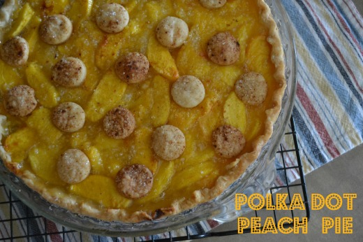 Polka Dot Peach Pie
