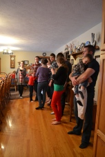 Lined up to inhale Glorious Christmas Dinner